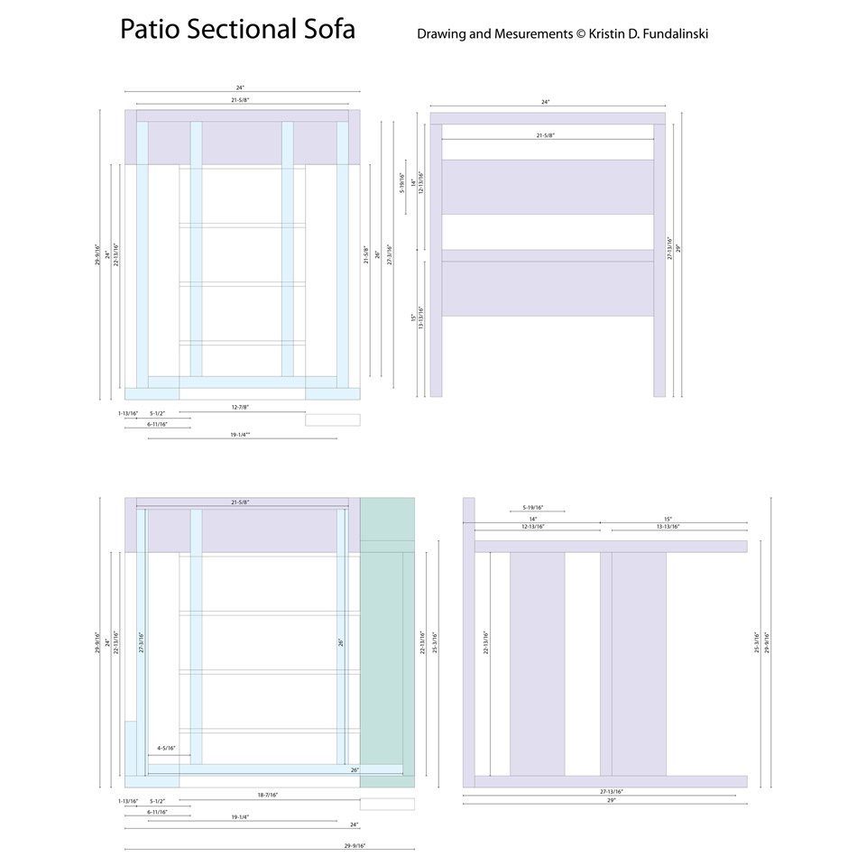 Sectional technical plans