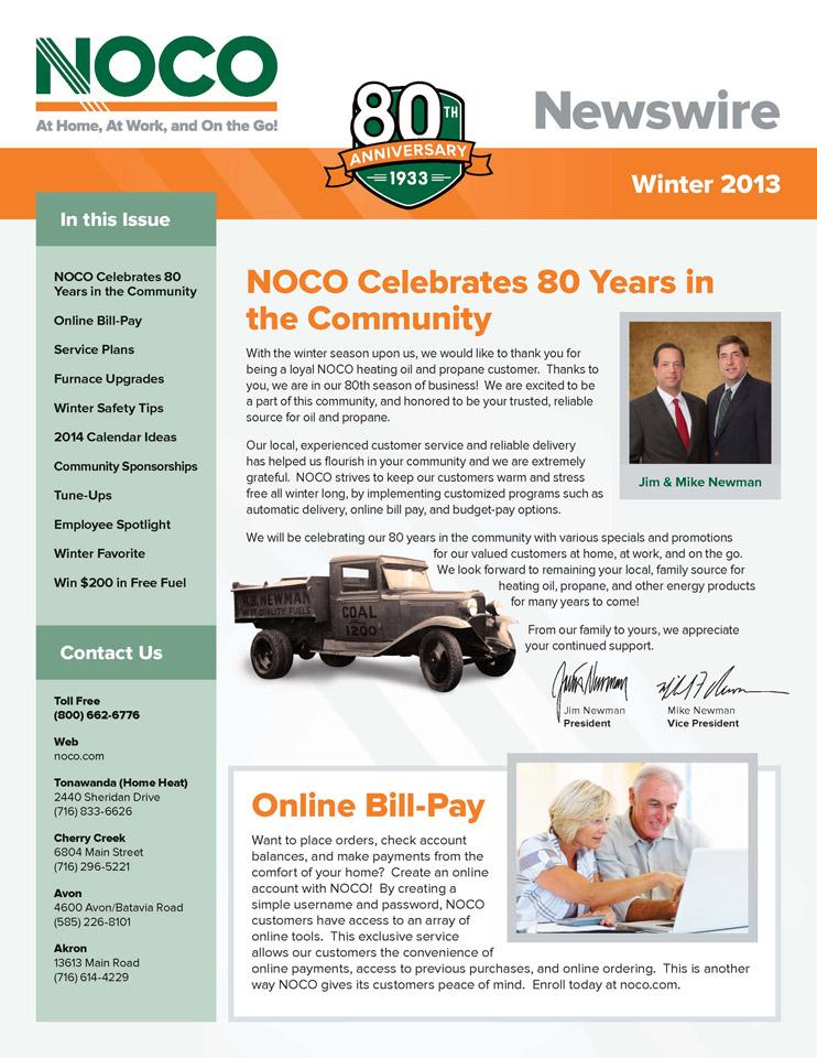 NOCO Newsletter 13, Winter