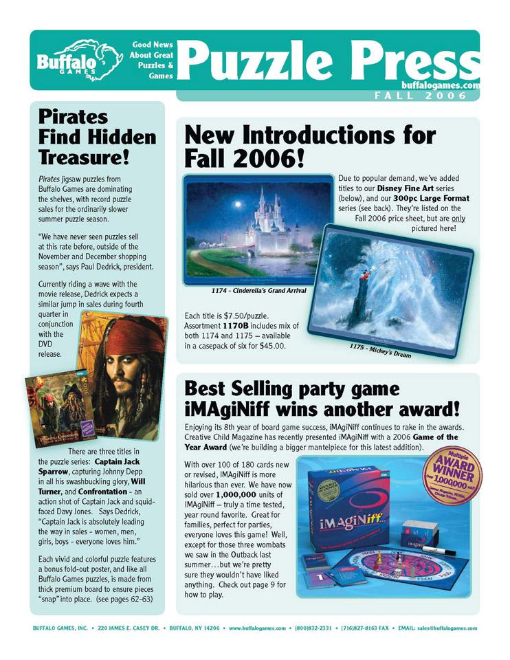 Puzzle Press, Fall 2006