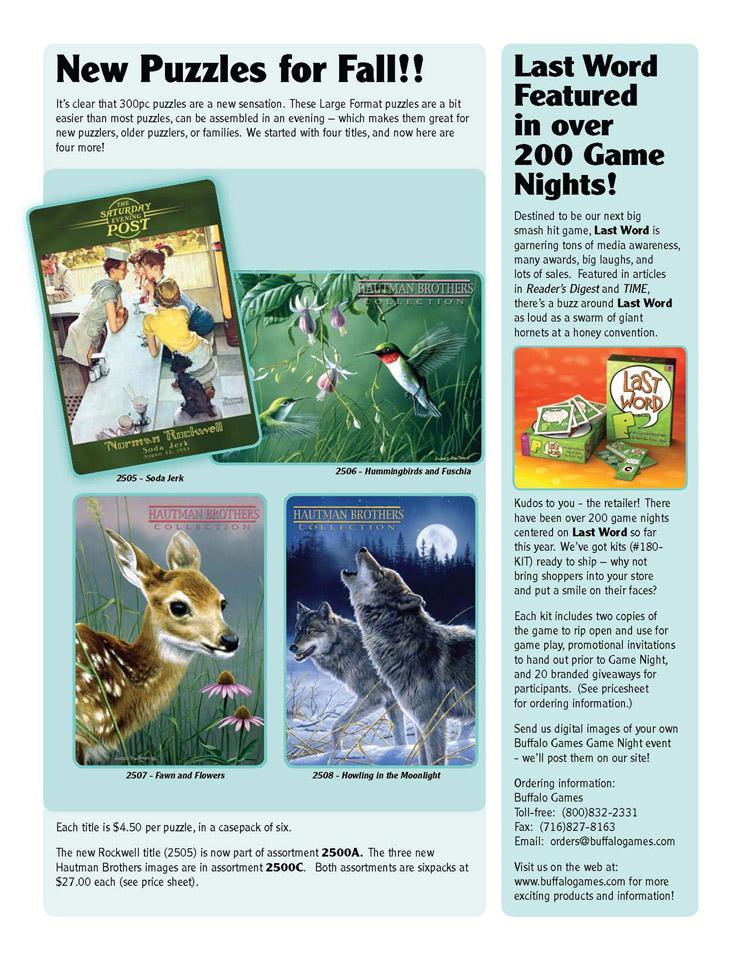 Puzzle Press, Fall 2006, back