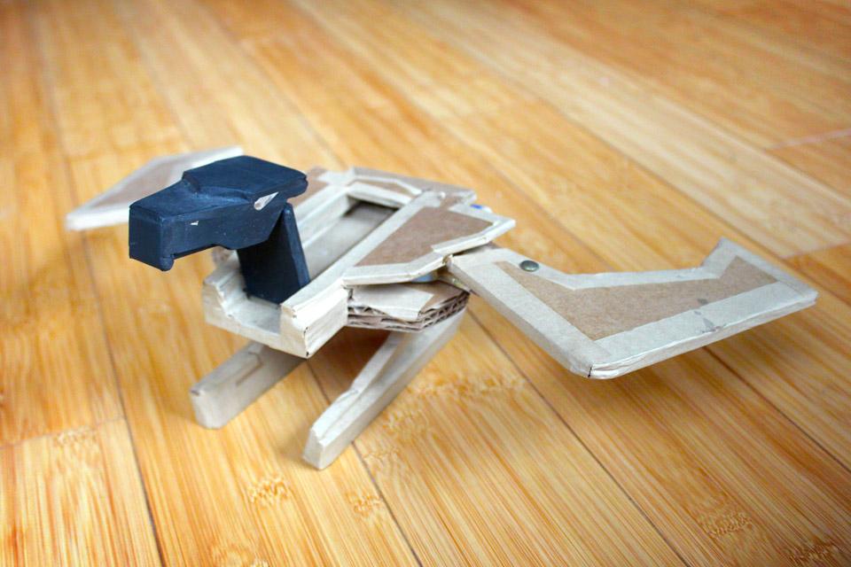 Transformer our of cardboard, 1988