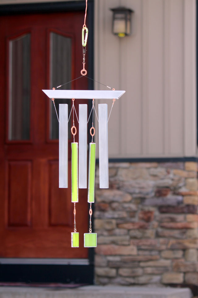 Industrial Zen - Wind Chimes - outside