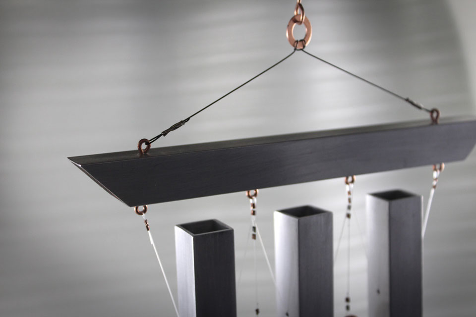 Industrial Zen - Wind Chimes - top