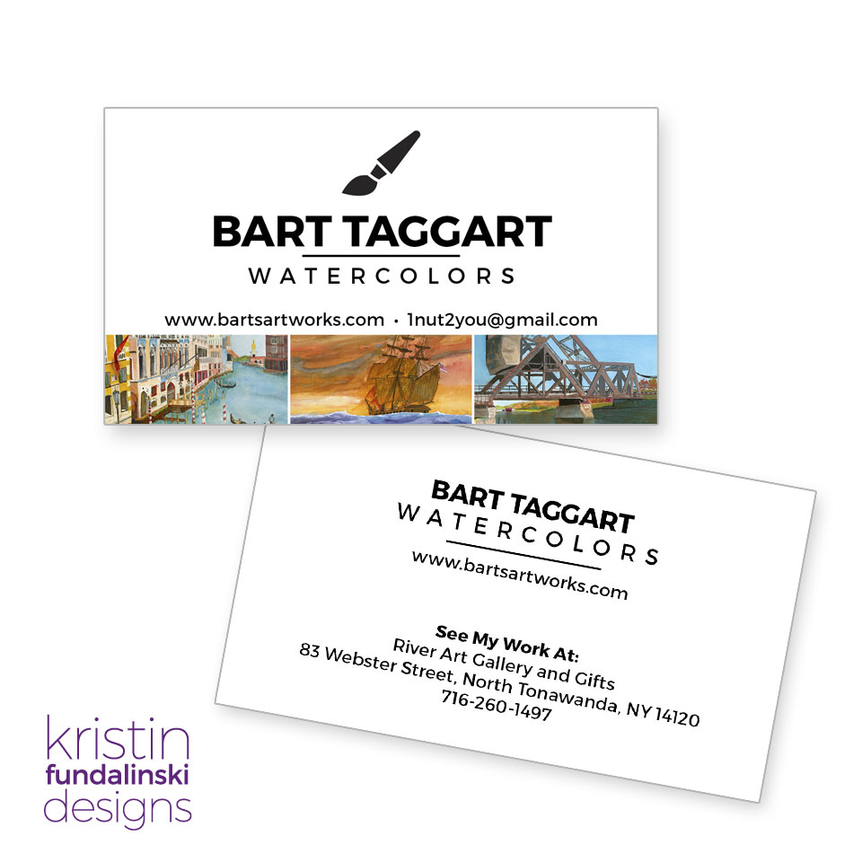 Fundalinski - Business Cards - for the artist Bart Taggart